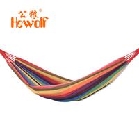 Hewolf outdoor hammock canvas single hammock thickening swing indoor bands 1127