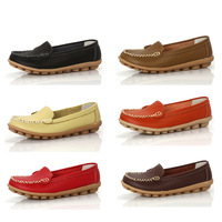 Wholesale sale! Women's Mother's genuine leather Shoes Slip-on Ballet Flats Comfort Anti-skid Shoes 7 Colors Free Shipping