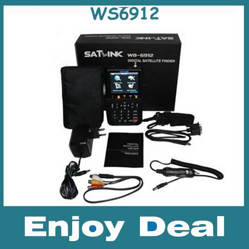 Satlink WS6912 DVB-S+DVB-S2 8PSK DIGITAL SATELLITE TV receivers FINDER METER & REAL TIME SPECTRUM ANALYZER decoder(China (Mainland))