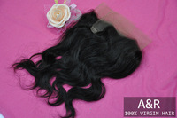 "A&R 100% Brazilian human hair closure extension,13''*2"",100% unprocessed virgin hair,Free shipping by DHL"