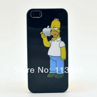 Free Shipping The Simpsons case hard plastic case for iPhone 4s 4