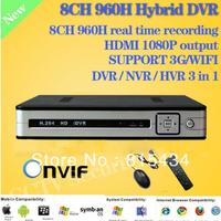 Home 1080P HDMI 8ch Full 960H CCTV DVR Recorder HI3521 Chip 960H D1 Recording 8ch Security Hybrid Stand Alone DVR NVR HVR ONVIF