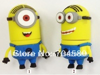 Free shipping 2GB 4GB 8GB 16GB 32GB 64GB Despicable Me 2 Minions 3 Pack USB Flash Drive, Dave, Kevin, Stuart