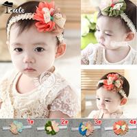 Free shipping (5pieces/lot) 2013 new fashion  bicolour flower lace boeknot children accessories  princess headbrands  JF0082