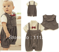 (3-21M) Baby Boy Wedding Special Occasion Christening Tuxedo Suit Outfit + Vest / Free Shipping!