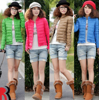 Hot-selling 2013 single breasted thin short down cotton-padded jacket design women's wadded jacket Free shipping