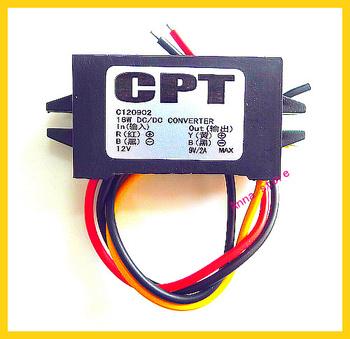 10pcs/lot  dc dc Converter Step Down Buck Module Input12V(12 20V), Output9V, 2A 18W car  LEDpower adapter