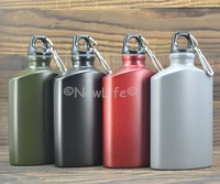 Outdoor Sports Water Bottle Aluminum Oval travel sports kettle student metal Drinking Bottles 1pc