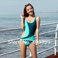 1-piece Triangle Conservative Swimsuit/Fashion Sexy Personalized Women's Patchwork Swimwear/Slim Hot Spring Sports Swimwear=YZ