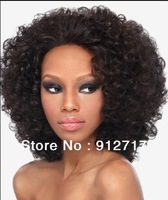 cheap short kinky hair afro curl lace front wigs!!!