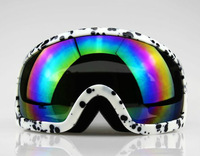FREE SHIPPING Spots Snowmobile Motorcycle Ski goggle eyewear protective glasses coloured lens