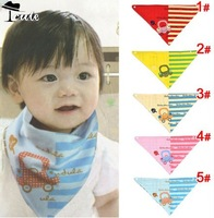 Free shipping (5pieces/lot)  wholesale double layer pure cotton cute car children burp cloths KK0031
