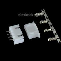 100sets 4pin XH2.54 Connector Kits male Pin Header+Terminal+female pin connector
