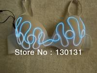 Light Up Bras for women party wearing of el wire bra