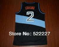 Free Shipping 2013 New best Basketball Jersey  Embroidery Logo Kyrie Irving 2# Red yellow Black 44-54/S-XXL Wholesale & Retail