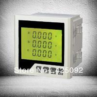 2013 best selling voltmeter three-phase AC DC voltage meter moving coil  RH-3AV4Y LCD
