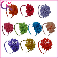 Hot Sales 10 pieces/lot High Quality Hair Band With Grosgrain Ribbon  Hair Band For girls Children Accessories CNHB-1307262