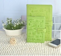 Free Shipping Notepad fashion A6 50k quality magnetic buckle notebook multicolour 992 book 120