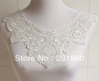 1 PC Off White Embroidery Collar Venise Lace Flowers Neckline Applique