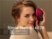 2013 Girls Gift 5200mAh Most Beautiful Jewel Style Fashion Cobblestone Mobile Power Bank,Smartphone battery,Free Shipping
