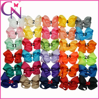 "Boutique HAIR BOWS Grosgrain Ribbon Hair Bows With Clips Children Accessories For Girls 20 pieces/lot 3.5"" CNHBW-1307266"