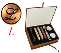 "Vintage 1"" Letter L Retro Alphabet Initial Wax Seal Stamp Kit Set Wedding Label"
