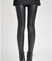 Women's Black Fashion pu Faux Leather Skinny Leggings Pants for Women footless Leggins Woman Jeggings Jeans girl jeggings 962
