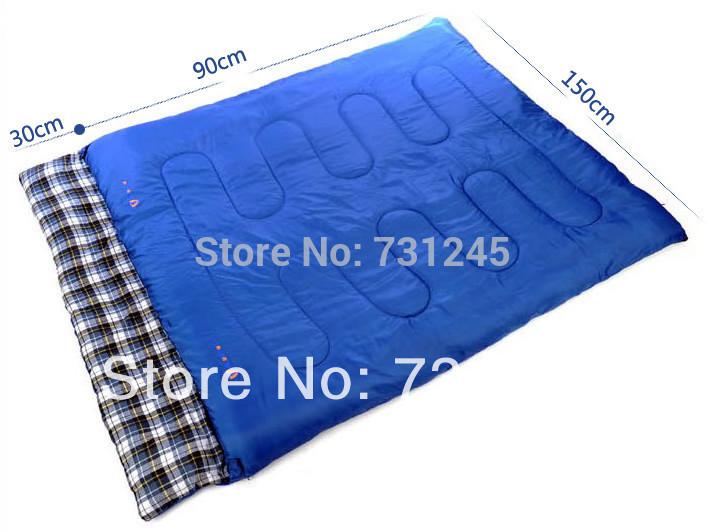Blue adult sleeping bag envelope sleeping bag travel sleeping bag double sleeping(China (Mainland))