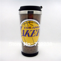 New L.A. Lakers LOGO Basketball Fans Stainless Steel  Thermal Travel Mug office Coffe Cup Bottle gift