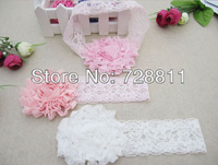 2+1 baby girl rose flower headband/baby lace hairbands/children hair accessories/infant headwear 1pcs free shipping