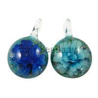 12pcs/lot Wholesale Flower Lampwork Pendant, DIY Jewelry Making Necklaces Pendants Creative Gifts Fashion Charms
