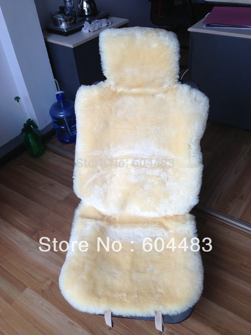 1Pair Sheepskin plate Car Seat Cover Not Cloth Free Shipping(China (Mainland))