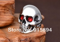 Men's Cool Skull Titanium Steel Ring free shipping
