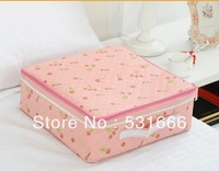 Storage rhyme 16 zipper covered underwear box storage box pink cherry