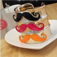 Min-order $6 can mix order Personality Europe style  jewelry lovely avanty beard opening bangle bracelet