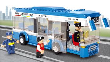 Free shipping  M38-B0330 235pcs 3D DIY  Plastic building block sets educational bricks blocks children toys bus gift for kid