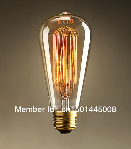 st64 antiche lampadine  edison lampade  vintage lampade  a filamento di carbonio in questo ...