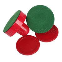 Red 2PCS Table Hockey Handles Mallet 75mm Pushers + 2PCS home 63mm Air Pucks