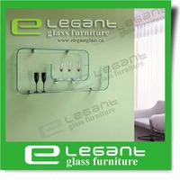 2013 Small Glass Wall Shelf/Glass Bookshelf-S086