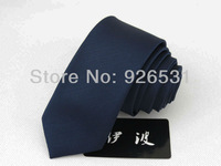 Han edition men skinny tie/navy pinstripe shape design/men neck deserve to act the classic tie free shipping