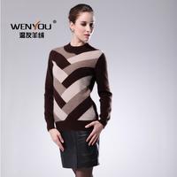 Mink women's o-neck sweater basic shirt slim thermal sweater o-neck sweater