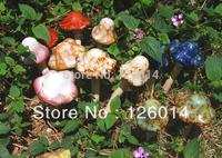 2014 New Gardening Supplies Garden Crafts Ornament Home Furnishing Decoration Lovely Ceramic Mushroom Specials Resin Craft