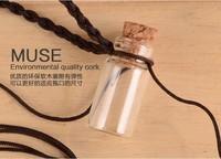 free shipping!!! 100pcs/lot Wholesale Mini Glass Bottle Vials Charms Pendants 22*11*7mm