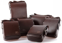 2014 Kangaroo Man Messenger Bags Men Handbag Leather Computer IPAD Bags Men's Travel Bags Free Shipping