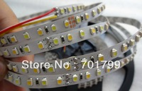 5m 600leds 12V 3528 SMD LED CCT color temperature adjustable strip(warm white/cool white);7.2w/m;non-waterproof