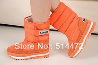 2013 new Boots high-leg boots platform snow shoes waterproof boots snow boots medium-leg boots female!Hot sale