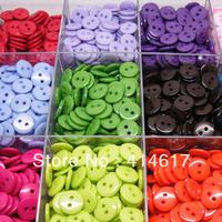 9 mm 200pcs Mix Color Plastic Buttons Clothes Sewing Accessories Upick