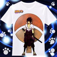 Japanese Anime Cartoon Sportswear Naruto Uchiha Sasuke Unisex Round collar short sleeves tee T-shirt