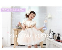 Free Shipping NEW HOT baby girls dress summer girls clothing beautiful Princess dress girls bowknot gauze tutu dress
