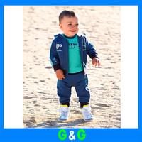 OWIND Hot brand Autumn and winter Cute boy panda jacket+ T-shirts + pants 3pcs suit clothing set  Drop Shipping
